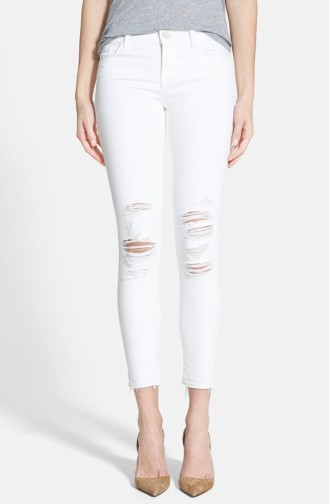 J Brand Low Rise Crop Jeans