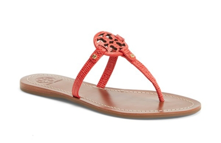 Tory Burch 'Mini Miller' Leather Thong Sandal
